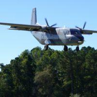 Grey colored, Casa 212 landing.