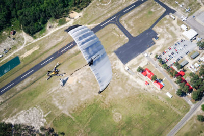 An aerial photo of Skydive Paraclete XP located in Raeford, NC