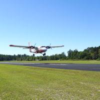 The Paraclete Aviation de Havilland Twin Otter landing.