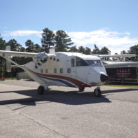 Shorts SkyVan parked on the ramp.